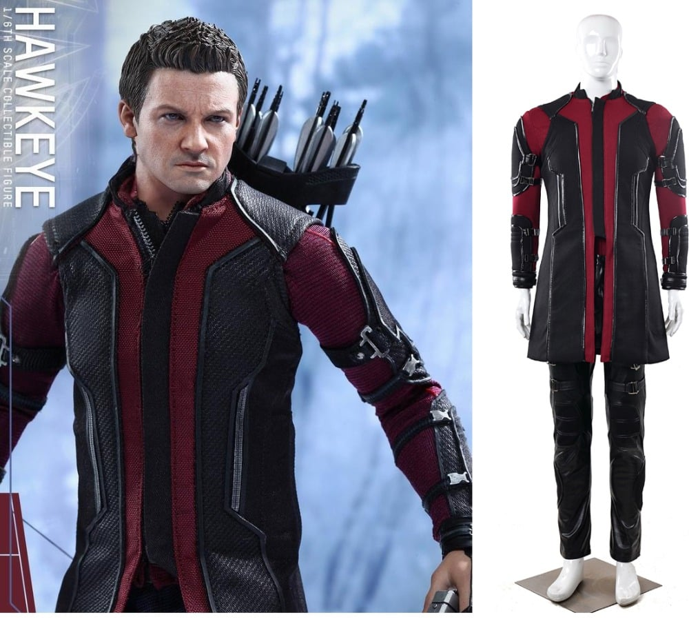 linglong 5 high quality custom made super hero avengers age of ultron hawkeye adult men halloween cosplay costume