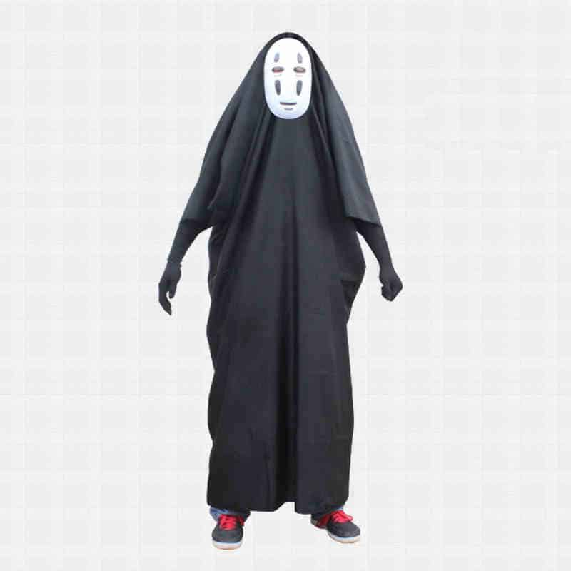 2015 hot sale spirited away faceless men cosplay costumes funny halloween cos masksglovescostumes