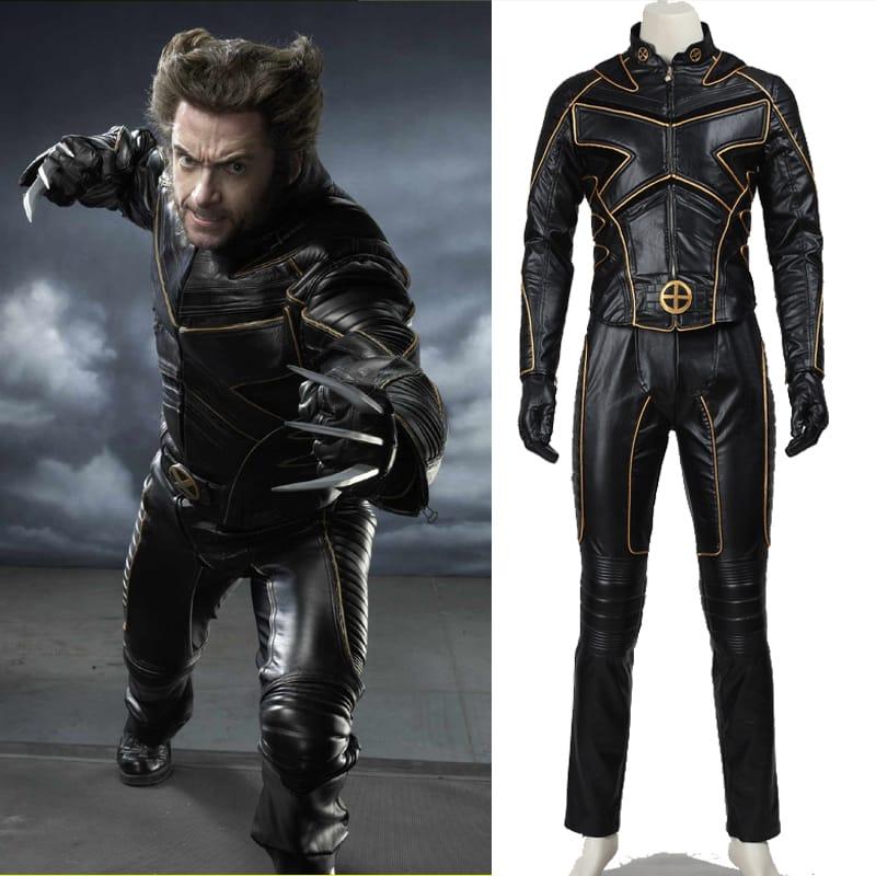halloween costumes men customized xmen origins wolverine cosplay costume winter jacket men sport suit clothing set