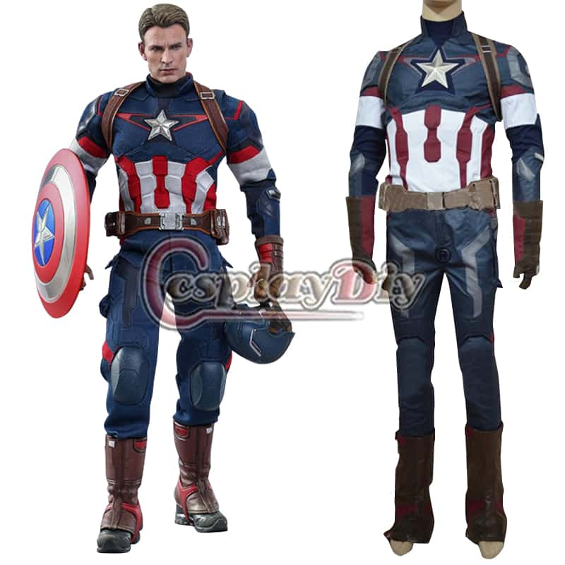 custom made age of ultron avengers captain america costume steve rogers uniform adult men halloween cosplay costume d0513