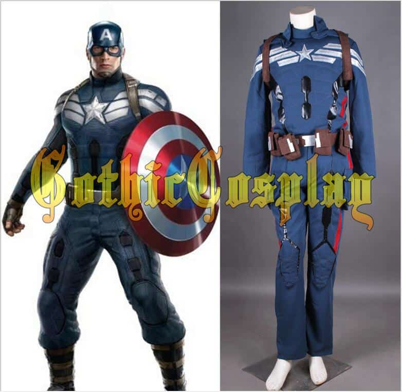 avengers age of ultron captain america cosplay costume steve rogers uniform adult men halloween costume