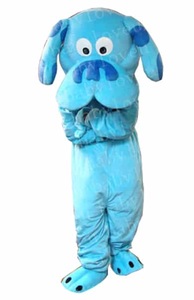 blue blues clue dog mascot costume halloween