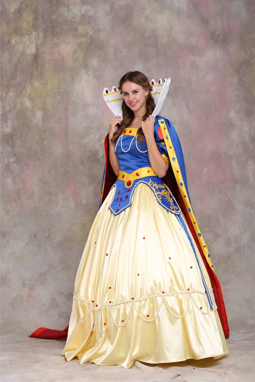 snow white princess dress costume adult snow white top skirt cape