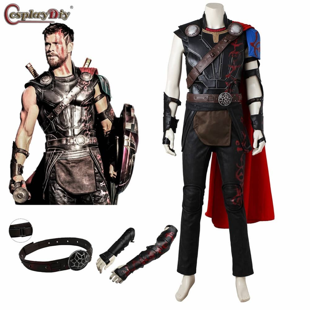 Thor Ragnarok Odinson Costume Thor Cosplay Outfit Adult Men Halloween Costumes SuperHero Thor 3 Cosplay Clothes Custom made  sc 1 st  Man Halloween Costumes & Thor: Ragnarok Odinson Costume Thor Cosplay Outfit Adult Men ...