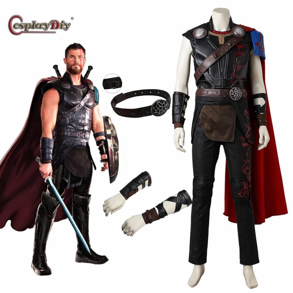 cosplaydiy thor: ragnarok odinson cosplay thor costume adult men
